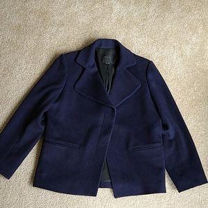 Theory L purple/black wool jacket.